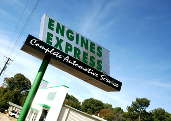 Engine Express Shop Sign